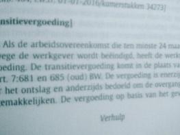 Foto bij Geen compensatie transitievergoeding na 2 jaar arbeidsongeschiktheid!